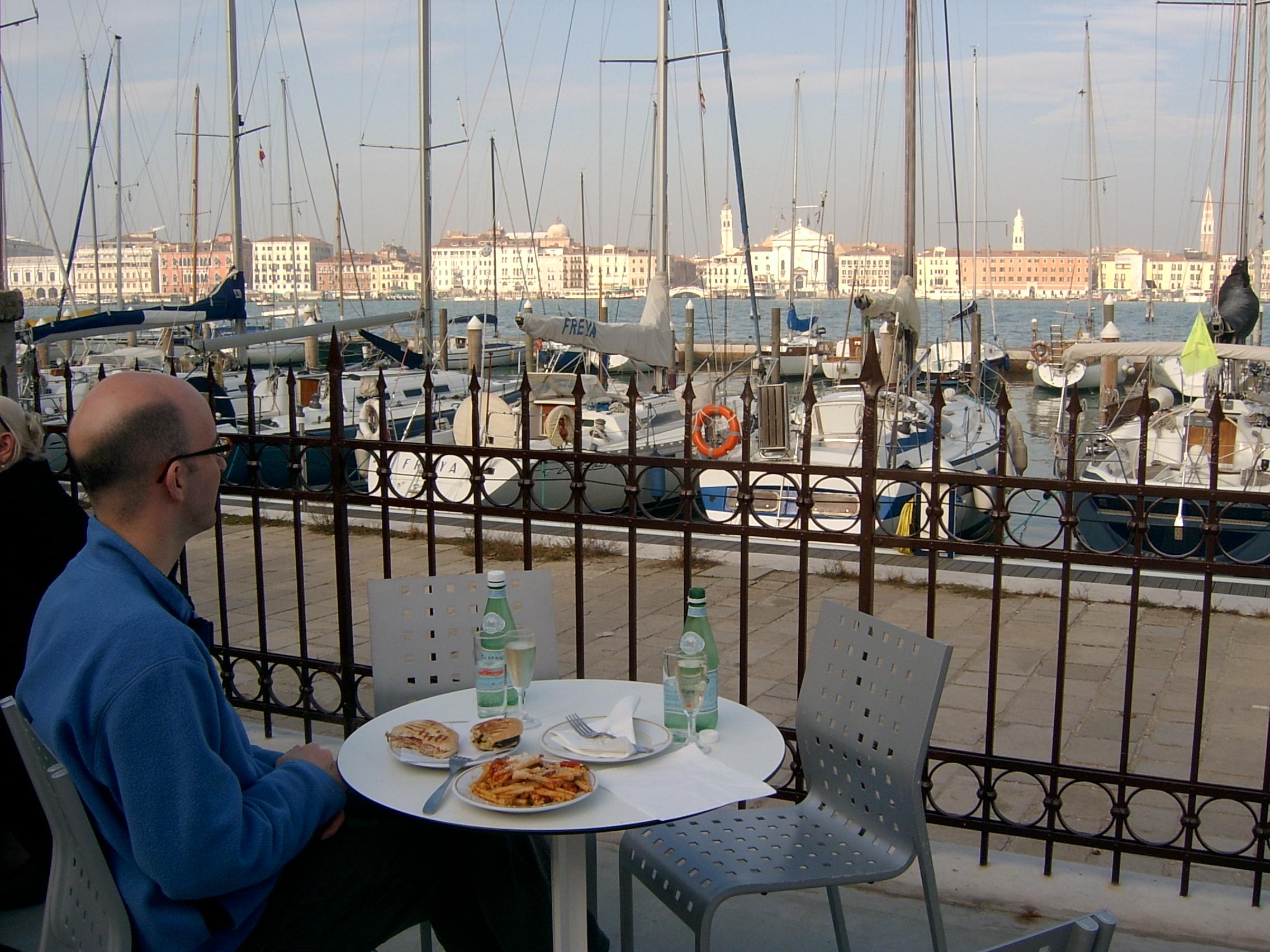 Drinking Prosecco in Venice, Italy