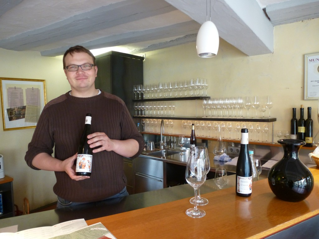 Tasting with Sebastian at Basserman-Jordan