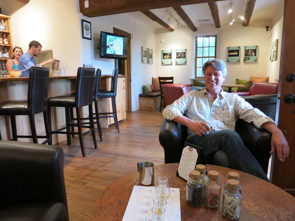 Colin Keegan in his downtown Santa Fe tasting room