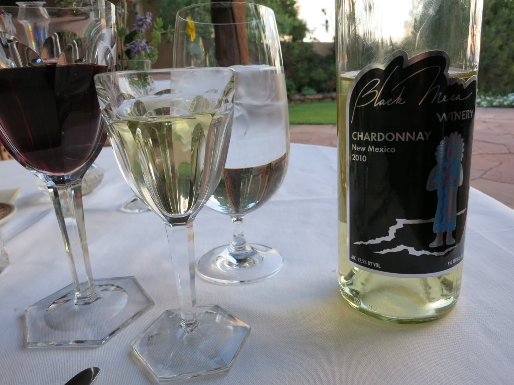 Black Mesa Chardonnay at the Hacienda del Cerezo