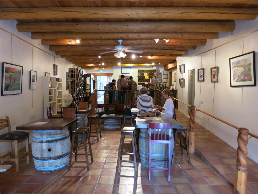 The Taos tasting room of Black Mesa