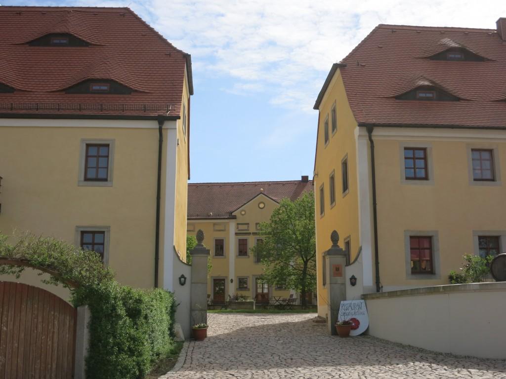 Entrance to the Schloss Proschwitz winery in Zadel