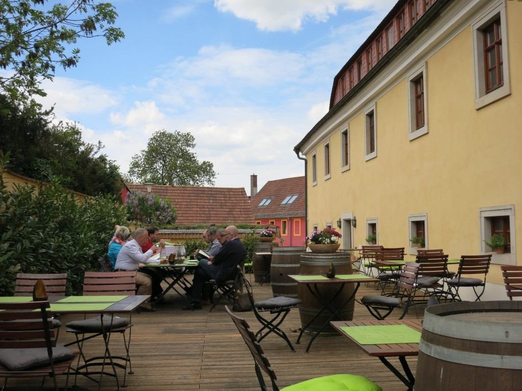 Terrace of the winery's restaurant