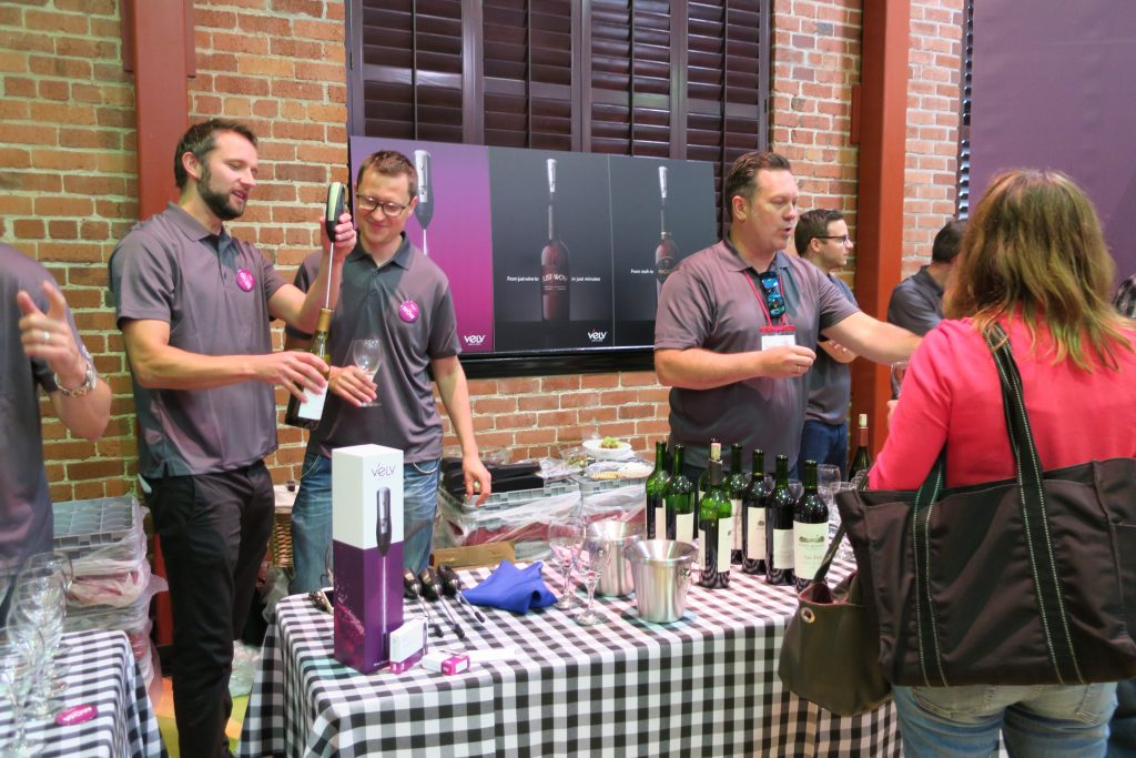 The Velv table at the Wine Bloggers Conference